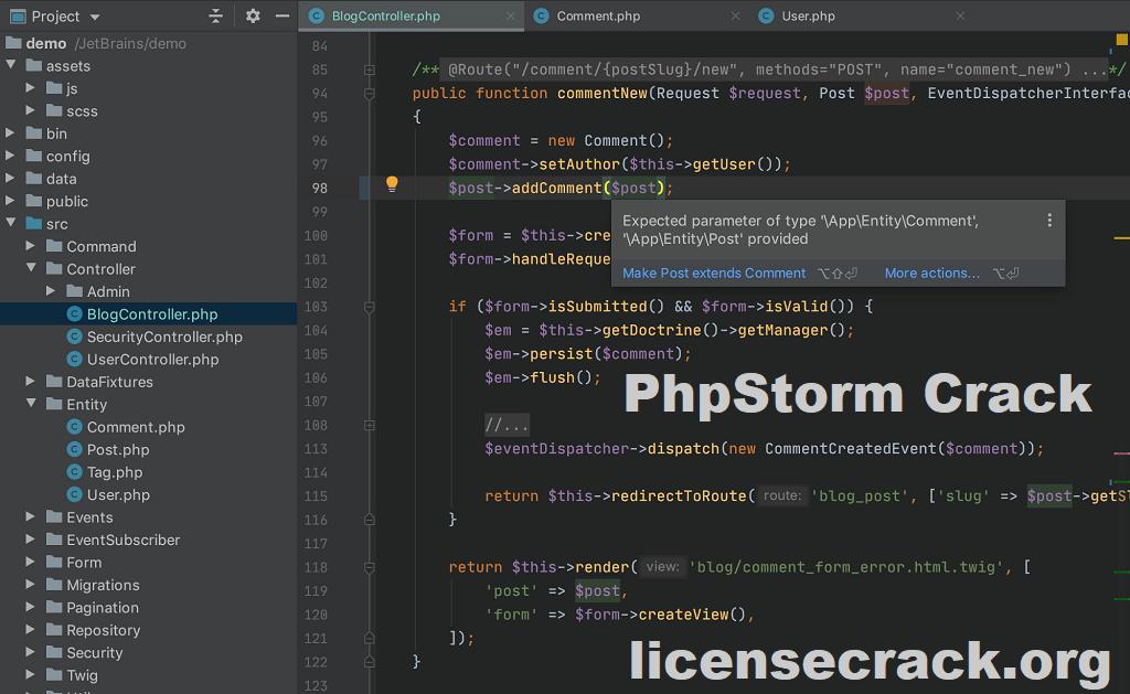 JetBrains PhpStorm 2020.3 Crack With License Key [Full]
