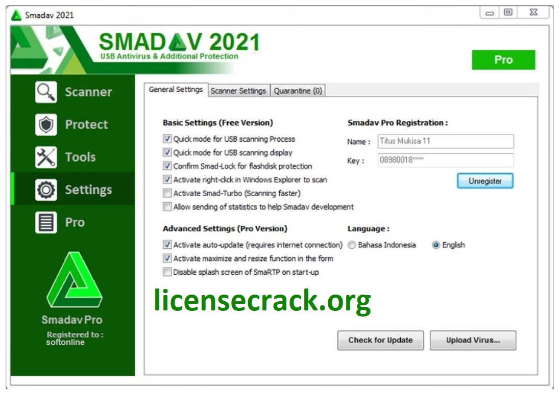 Smadav Antivirus Crack 2021 Rev 14.6 Pro + Serial Key Lifetime